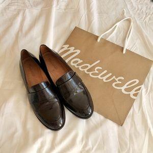 burgandy madewell elin loafers e0270 size 9.5